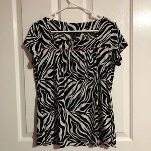 Animal print blouse by Susan Lawrence size large
